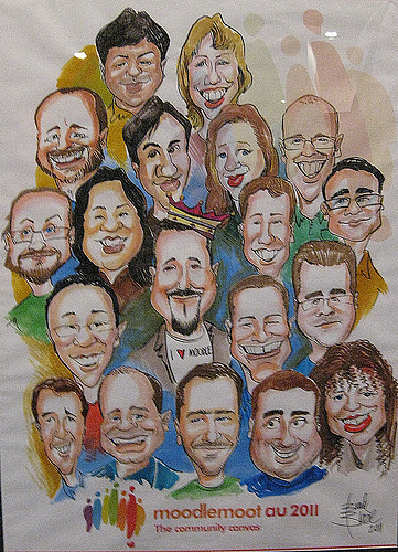 Moodle HQ Caricature