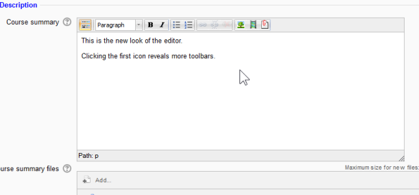 New editor look